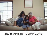 mother and daughter reading...   Shutterstock . vector #660442093