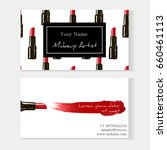 makeup artist business card... | Shutterstock .eps vector #660461113