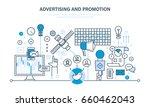 digital marketing  advertising  ... | Shutterstock .eps vector #660462043