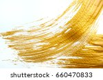 abstract gold stroke with... | Shutterstock . vector #660470833