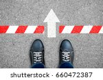 black shoes standing at the...   Shutterstock . vector #660472387