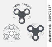set of fidget hand spinner... | Shutterstock .eps vector #660473557