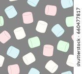 colorful marshmallow. seamless... | Shutterstock .eps vector #660477817