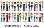 flat people characters. vector... | Shutterstock .eps vector #660493867