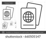 passport vector line icon... | Shutterstock .eps vector #660505147