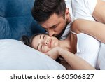 portrait of young loving couple ... | Shutterstock . vector #660506827
