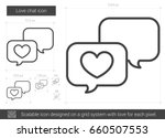 love chat vector line icon... | Shutterstock .eps vector #660507553