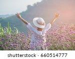 portrait of happy beautiful...   Shutterstock . vector #660514777