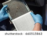 cabin air filters  dirty and... | Shutterstock . vector #660515863