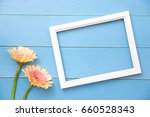 photo frame and yellow flower...   Shutterstock . vector #660528343