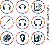 ear icons set. set of 9 ear... | Shutterstock .eps vector #660544243