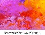 abstract oil paint texture on... | Shutterstock . vector #660547843