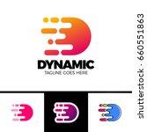 motion speed line letter d logo ...