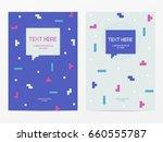 vector cyber tetris figure...   Shutterstock .eps vector #660555787