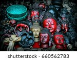 A Lot Of Buddha Figurines In A...