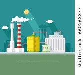 gas storage spheres tank in...   Shutterstock .eps vector #660563377