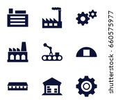 factory icons set. set of 9... | Shutterstock .eps vector #660575977