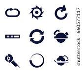 circular icons set. set of 9... | Shutterstock .eps vector #660577117