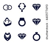jewelry icons set. set of 9... | Shutterstock .eps vector #660577693