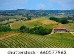 landscape with vineyards ... | Shutterstock . vector #660577963