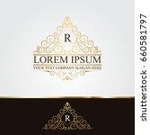 luxury logo | Shutterstock .eps vector #660581797