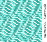 vector color turquoise wavy... | Shutterstock .eps vector #660594283