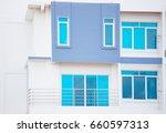 Blue Modern Windows On White...