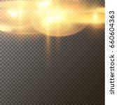 yellow side overlay bokeh layer.... | Shutterstock .eps vector #660604363