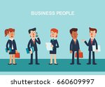 young businessmen and business... | Shutterstock .eps vector #660609997