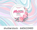 mother's day sale background... | Shutterstock . vector #660610483