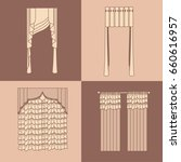 curtains and draperies...   Shutterstock .eps vector #660616957