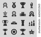 trophy icons set. set of 16... | Shutterstock .eps vector #660631363