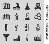 chemical icons set. set of 16...   Shutterstock .eps vector #660632257