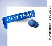 new year paper tag with... | Shutterstock .eps vector #66063397