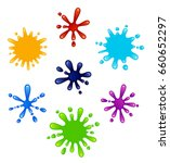 set of colored blots on a white ... | Shutterstock .eps vector #660652297