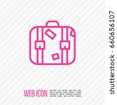 suitcase travel line vector icon | Shutterstock .eps vector #660656107