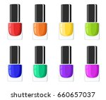 glamour elegance manicure...   Shutterstock .eps vector #660657037