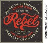 vintage biker graphics and... | Shutterstock .eps vector #660659017