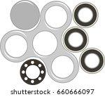 hand spinner flat vector...   Shutterstock .eps vector #660666097