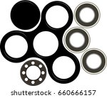 hand spinner flat vector...   Shutterstock .eps vector #660666157