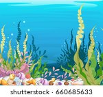 marine life landscape   the...   Shutterstock .eps vector #660685633
