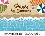 summer greeting card of beach | Shutterstock .eps vector #660705367