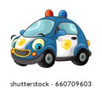 cartoon police car   isolated   ... | Shutterstock . vector #660709603