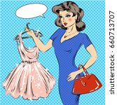 vector illustration of pretty... | Shutterstock .eps vector #660713707