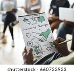 mental health care sketch... | Shutterstock . vector #660722923