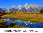 teton mountain range with... | Shutterstock . vector #660726667