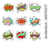 pop art comic speech bubble... | Shutterstock .eps vector #660745177
