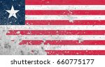 liberia flag grunge background. ... | Shutterstock . vector #660775177