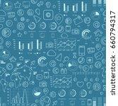 social media blue seamless... | Shutterstock .eps vector #660794317