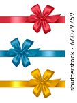 collection of colored bows with ... | Shutterstock .eps vector #66079759